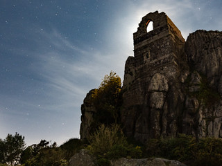Photographing Nightscapes and Moon Halos in Cornwall