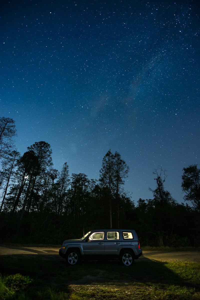 Astrophotography tutorial milky way jeep
