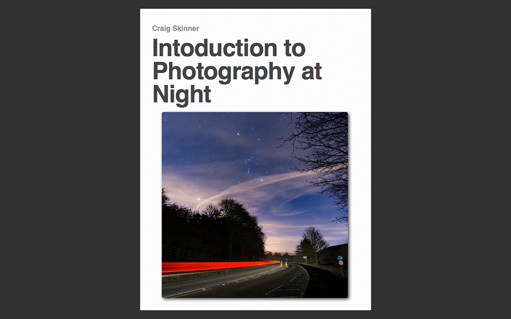 introduction to photography at night