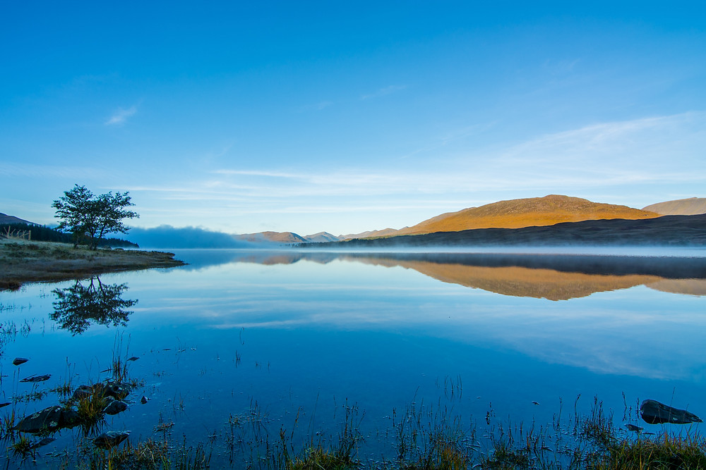 Loch Tulla and Black Mount reflection