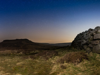 Astro landscape photography in The Peak District