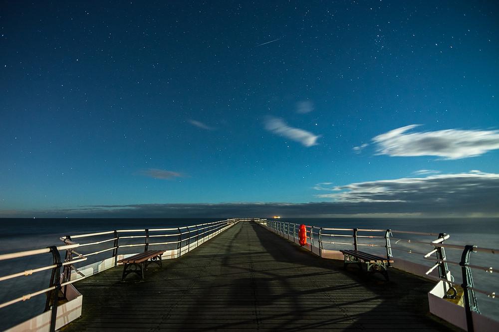 Astrophotography UK Saltburn Pier