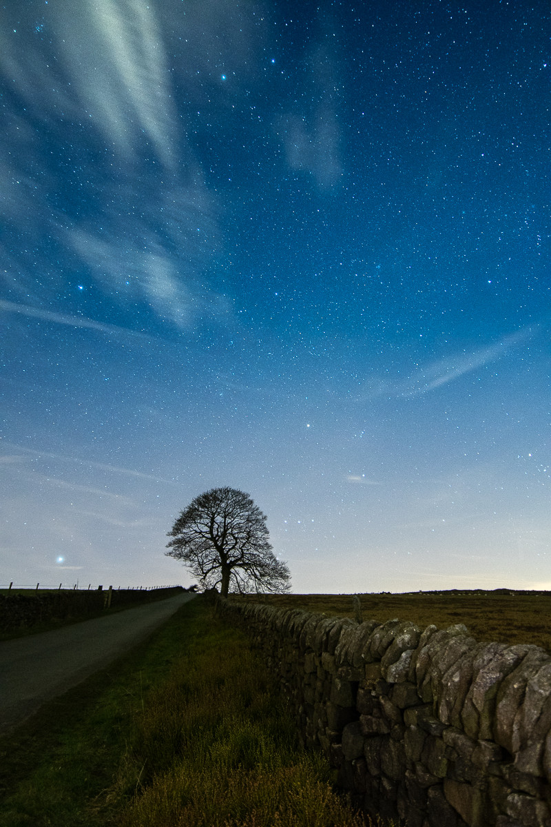 nightscape astrolandscape photography derbyshire sheffield peak district