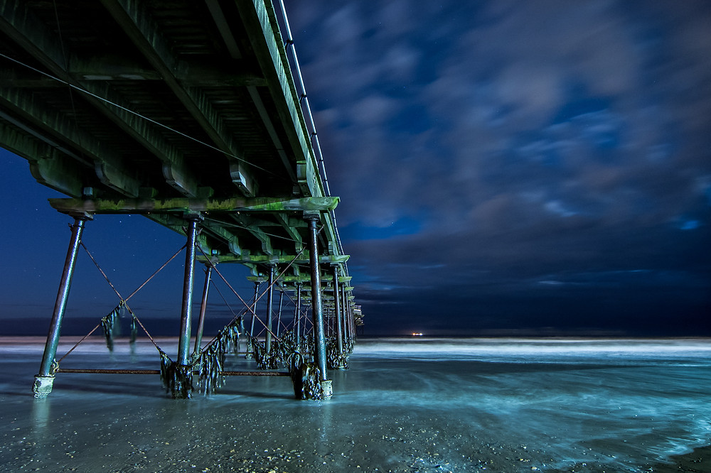Saltburn Pier astrophotography UK