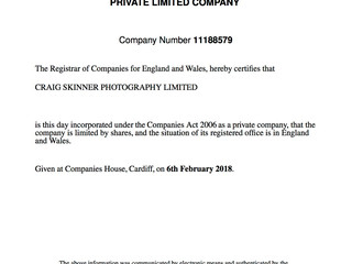Starting a Photography Limited Company