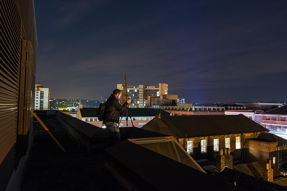 Rooftopping the NUM building Sheffield