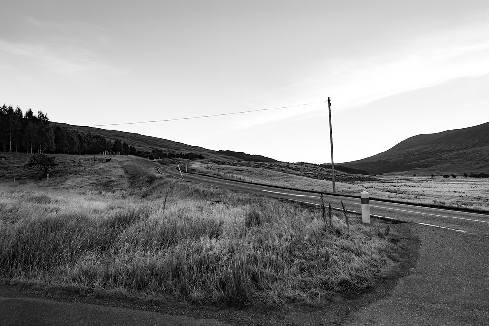 deer by the road, A82, Loch Tulla