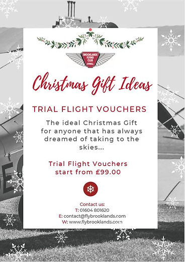 Flying School voucher poster Christmas.J