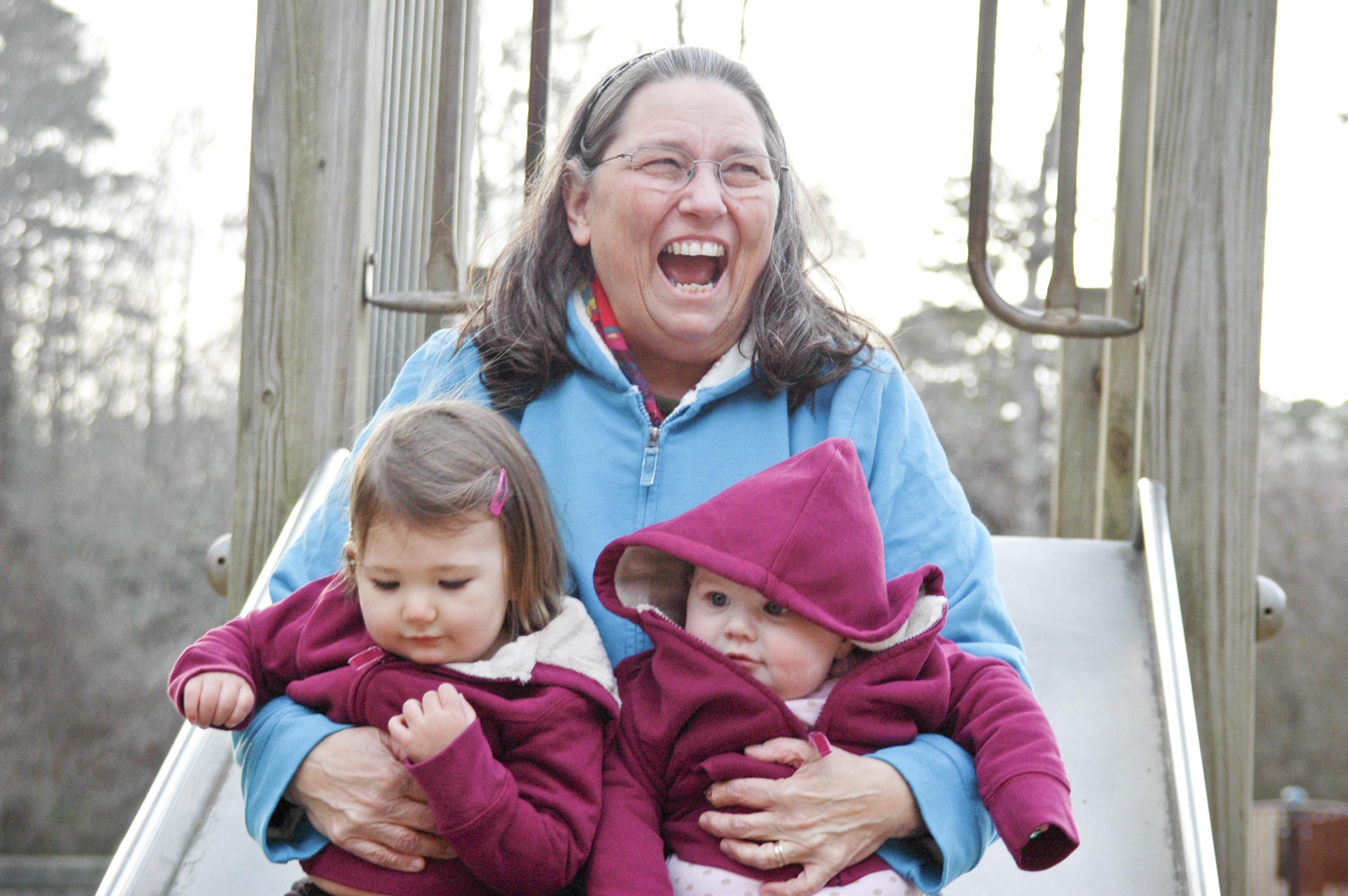 Grandma with babies