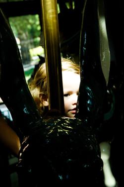 Portrait of Girl on Carousel