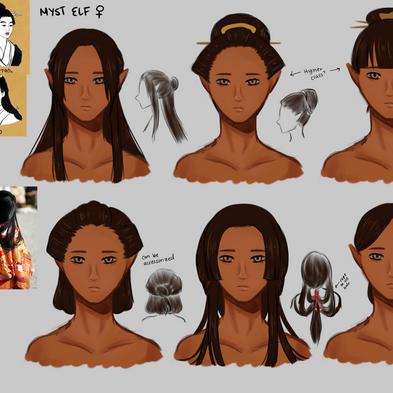Myst Elf Face & Hair (Female)