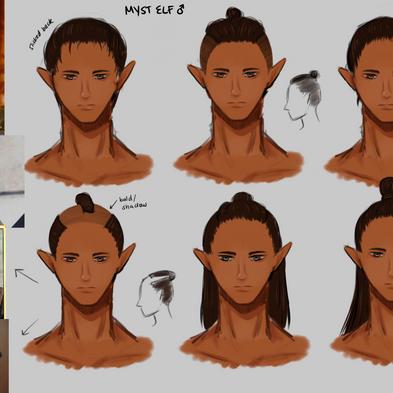 Myst Elf Face & Hair (Male)