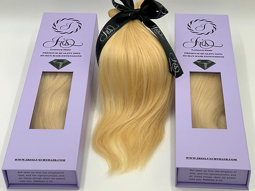 RUSSIAN Hair Extensions - #613 BLONDE - Natural Straight