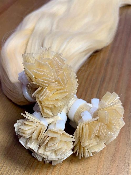 RUSSIAN BLONDE FLAT Tip Keratin Pre-Bonded Hair Extensions