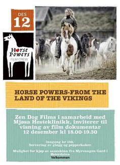 Prisbelønt hestefilm vises på Mjøsa Hesteklinikk 12.des 2018, 18:00-19:30