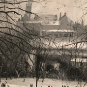 Snowy Kelvingrove from the Hill