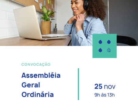 Assembleia Geral Ordinária acontece dia 25 de novembro de forma totalmente digital
