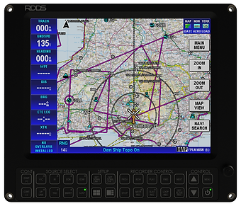 RDDS Avionics Displays Video Management Aviation Mission Control Command Mission Software LCD1015 Touchscreen Display