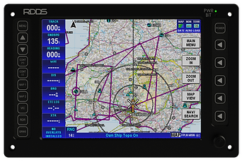 RDDS Avionics Displays Video Management Aviation Mission Control Command Mission Software LCD0815 Display