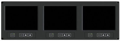 RDDS Avionics Displays Video Management Aviation Mission Control Command Mission Software LCD0603 3 in 1 Display