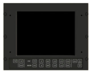 RDDS Avionics Displays Video Management Aviation Mission Control Command Mission Software LCD0807 Display