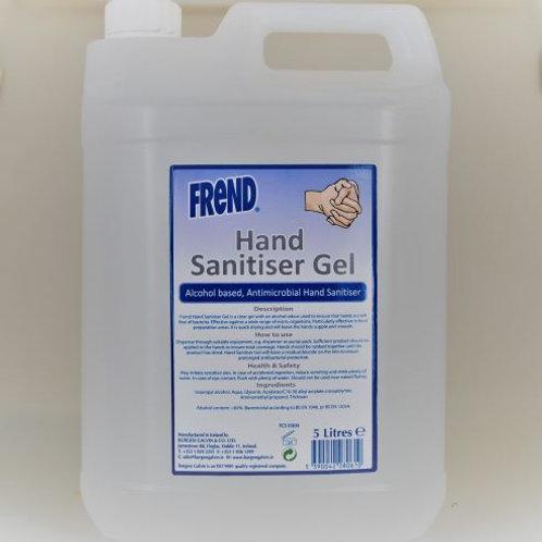 Frend Hand Sanitizer Gel Irish Manufacturer (1x5L)