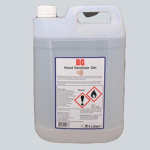 BG Hand Sanitiser Gel 5 Ltr Irish Made