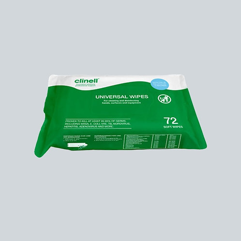 Clinell Antibacterial Wipes 1x72