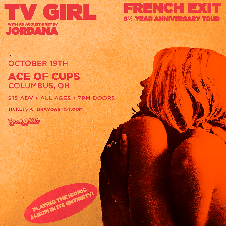 Bravo Artist Presents - TV Girl *SOLD OUT*