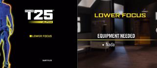 Focus T25: Alpha Lower Focus