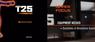 Focus T25: Beta Upper Focus
