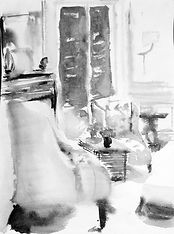 Картина в серых тонах. Классический декор. Автор Tanya Klyat