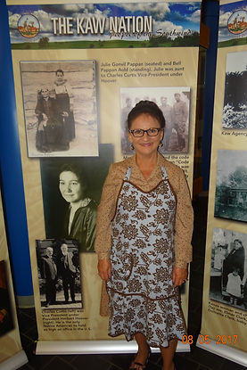 Pauline Sharp at Kanza Museum