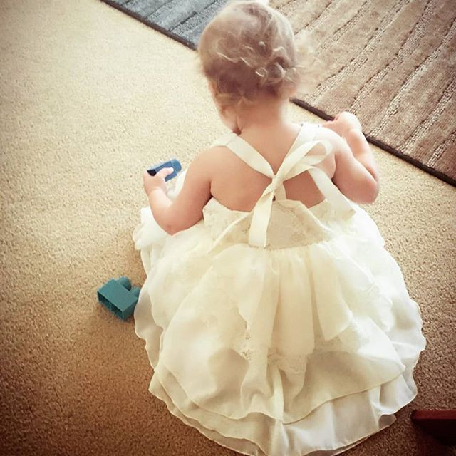 Little Easter dress made from scraps #ha