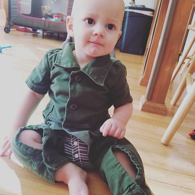 These coveralls are made from the remnan