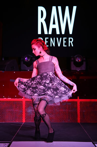 Gray Upcycled Denim and Tulle