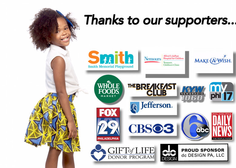 Assiah Phinisee, Rasheena Phinisee, Fox News, CBS News, NBC News, CNN, Gift of Life, ABC News, Make a Wish, Nemours, KYW, Philadelphia, California, The Breakfast Club, Bobby Rydell, Quincy Harris, Helen Ubinas, Dupont, dc Designs PA LLC, Duron Carter, August Alcina