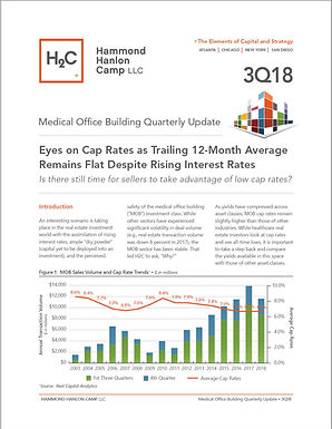 3Q18 H2C Medical Office Building Report: Eyes on Cap Rates as Trailing 12-Month Average Remains Flat Despite Rising Interest Rates