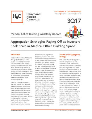 H2C 3rd Quarter MOB Report:  Aggregation Strategies Paying Off as Investors Seek Scale in Medical Office Building Space