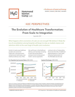H2C Perspectives • The Evolution of Healthcare Transformation: From Scale to Integration