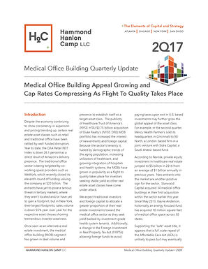 H2C Second Quarter Medical Office Building Report:  Medical Office Building Appeal Growing and Cap Rates Compressing As Flight To Quality Takes Place