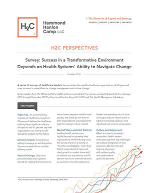H2C Perspectives • Survey: Success in a Transformative Environment Depends on Health Systems' Ability to Navigate Change