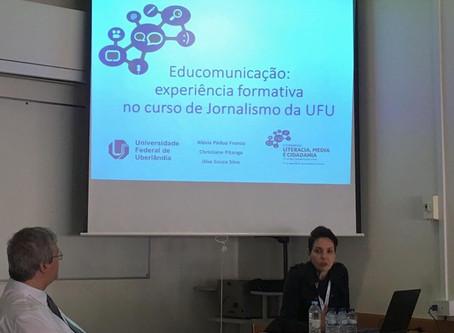 Professora da UFU apresenta artigo de educomunicação em Portugal