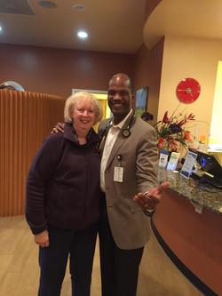Dr. Morris with Patient 2