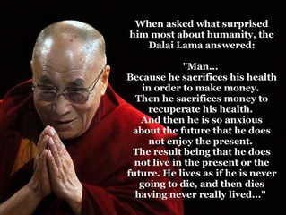 A slice of wisdom from the Dalai Lama today