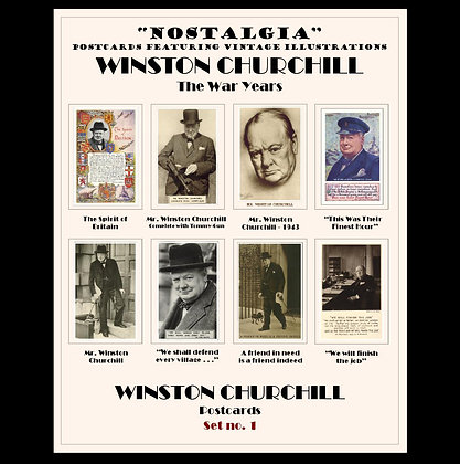 Winston Churchill - postcard set 1
