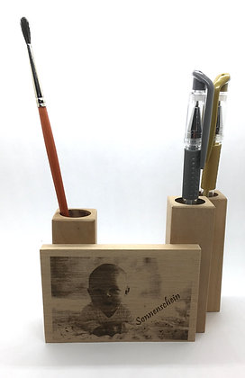 Schreibzeughalter mit Foto