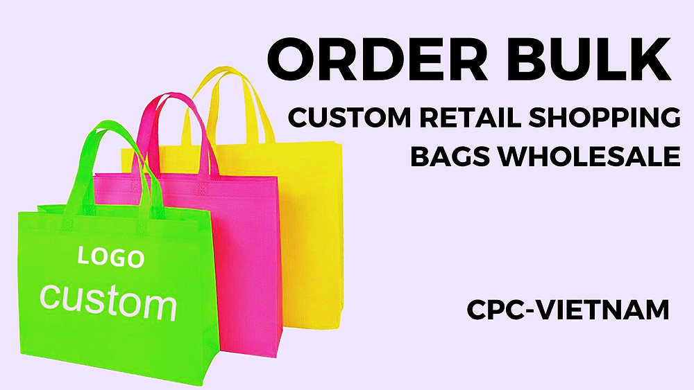 Custom Retail Shopping Bags Wholesale | Custom Plastic Shopping Bags Wholesale