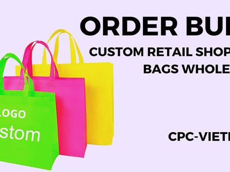 Custom Retail Shopping Bags Wholesale   Personalised Plastic Shopping Bags