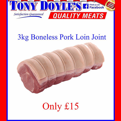 3kg Boneless Pork Loin Joint